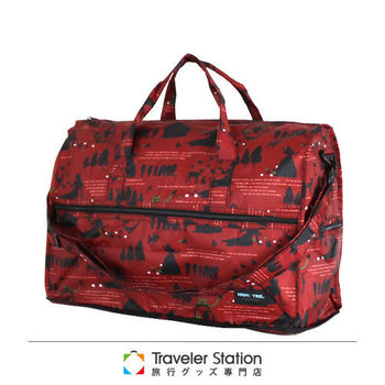 《Traveler Station》HAPI+TAS 摺疊圓形旅行袋(小)新款-47紅色白雪公主