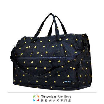 《Traveler Station》HAPI+TAS 摺疊圓形旅行袋(小)新款-218男版深藍小黃帽