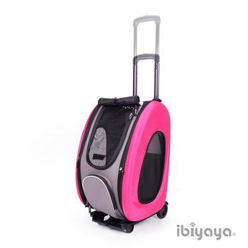 【IBIYAYA依比呀呀】五彩繽紛寵物拉桿後背包-甜蜜桃紅(FC1008)