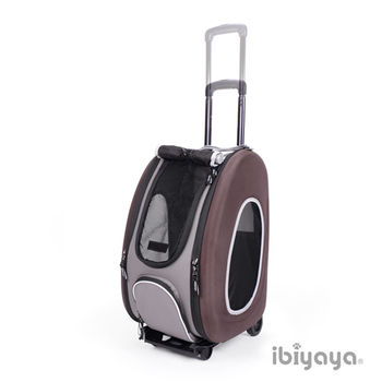 【IBIYAYA依比呀呀】五彩繽紛寵物拉桿後背包-沉穩咖啡(FC1008)