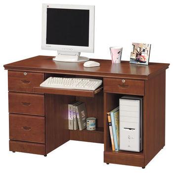 【時尚屋】[UZ5]長榮柚木色4.2尺電腦桌869-6