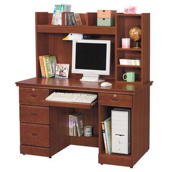 【時尚屋】[UZ5]長榮柚木色4.2x4.8尺電腦桌869-4