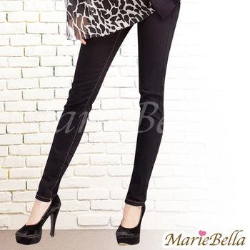 Marie Bella 彈力修身牛仔內搭褲 黑