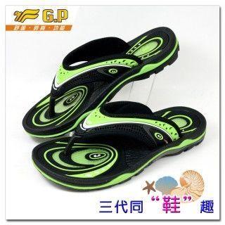 【G.P 避震功能休閒氣墊拖鞋】G5804M-60 綠色(SIZE:39-43 共三色)