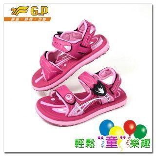 【G.P】親子同樂(28-34尺碼)-磁扣兩用涼鞋G5921B-45(桃紅色)共四色