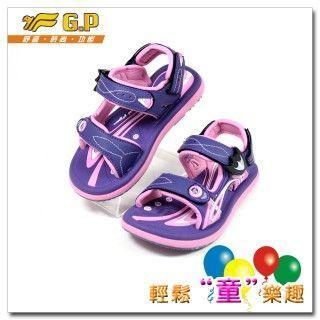 【G.P 色彩繽紛休閒童涼鞋】G5921B-41多功能磁扣涼鞋(紫色)(28-34尺碼)共四色