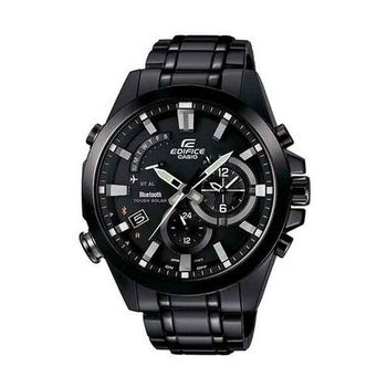 CASIO EDIFICE 全新藍牙商務人士智慧運動錶款-黑-EQB-510DC-1A