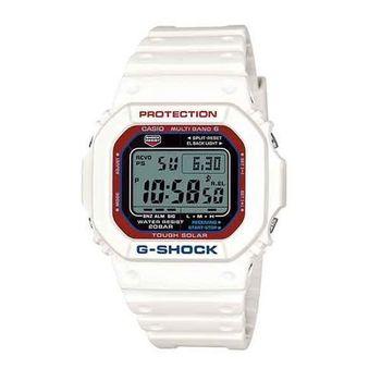 G-SHOCK 酷炫魅力展現電波時計運動腕錶-白-GW-M5610TR-7