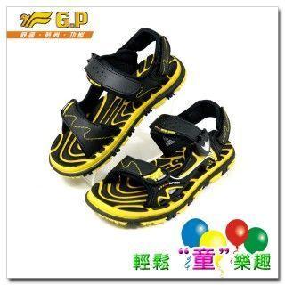【G.P 色彩繽紛休閒童涼鞋】G5929B-33多功能磁扣涼鞋(31-35尺碼)-(黃色)共三色