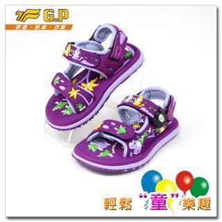 【G.P 可愛動物圖案童涼鞋】G5935B-41多功能磁扣涼鞋(紫色)(尺寸24-30)共四色