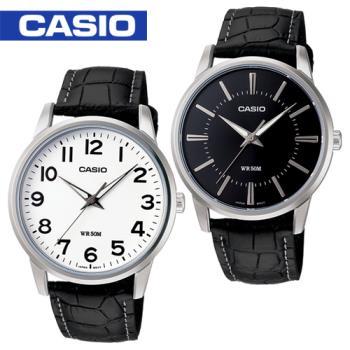 【CASIO 卡西歐】大鏡面-送禮首選紳士錶-附錶盒(MTP-1303L)