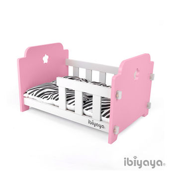 【IBIYAYA依比呀呀】寵物傢俱系列-寵物欄杆床-粉米(FF1204)