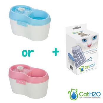 【Cat H2O】靜音有氧濾水機2L+活性炭濾棉3入 組合