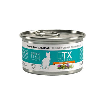【GREEN FISH】葛林菲 DTX低敏護肝貓食糧-鮪魚+小管 貓罐80G X 32入