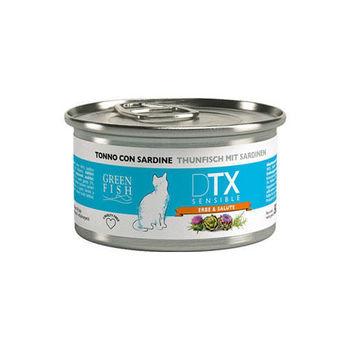 【GREEN FISH】葛林菲 DTX低敏護肝貓食糧-鮪魚+沙丁魚 貓罐80G X 32入