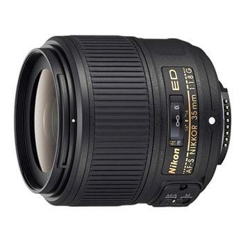 【Nikon】AF-S 35mm F1.8G ED FX格式大光圈定焦鏡(公司貨)  送58mm抗UV保護鏡