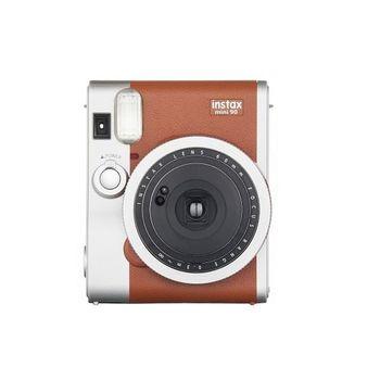 FUJIFILM instax mini 90 馬上看 經典復古拍立得相機 棕色( 恒昶公司貨)