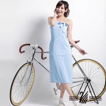 【遊遍天下】MIT台灣製防曬吸排涼感多功能一片裙(加大)水藍