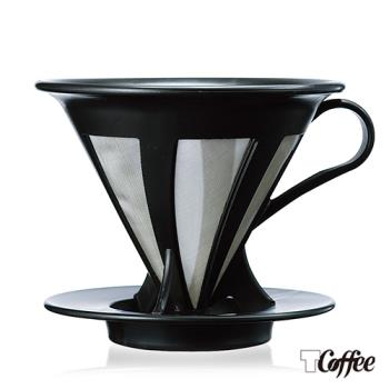 【TCoffee】HARIO-V60免濾紙黑色濾杯(1~4杯份)