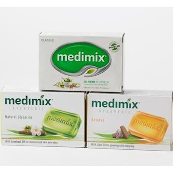 【印度MEDIMIX當地特價版】草本香皂(24入三色特惠組加送杜拜橄欖洗手乳)