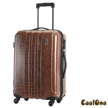 CoolOne 經典鱷魚紋24吋PC亮面旅行箱
