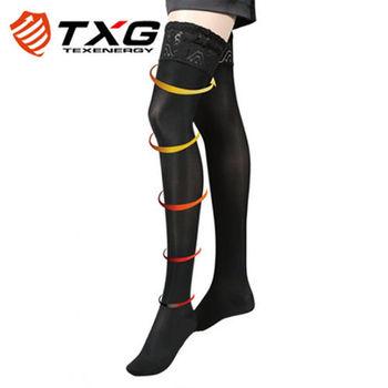 【TXG】蕾絲調整大腿襪-進階型(黑/S-XL)