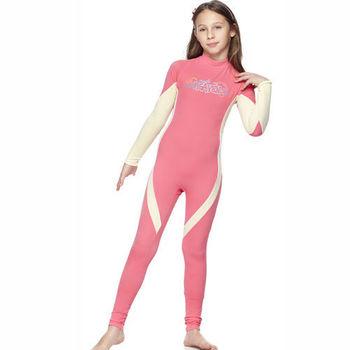 【SAIN SOU】女童連身水母衣泳裝 加贈造型短襪x1雙