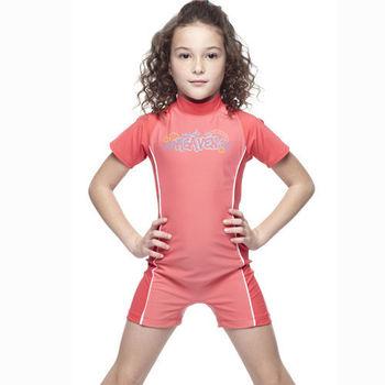 【SAIN SOU】女童連身水母衣泳裝附泳帽 加贈造型短襪x1雙