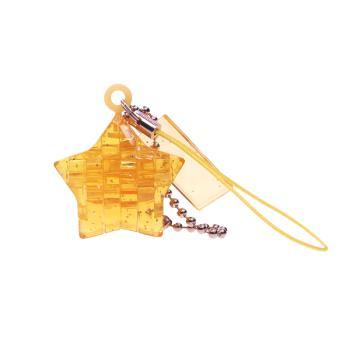 《3D 立體水晶拼圖》黃星星迷你吊飾