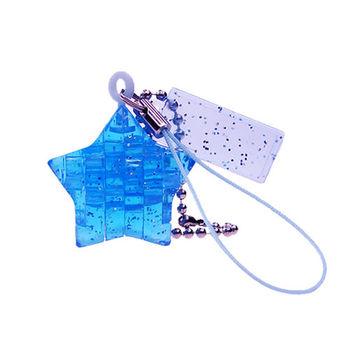 《3D 立體水晶拼圖》藍星星迷你吊飾