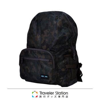 《Traveler Station》HAPI+TAS 摺疊後背包 新款-228男版軍綠色迷彩