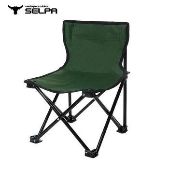 【韓國SELPA】 戶外折疊靠背椅(綠色)