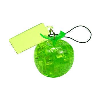 《3D 立體水晶拼圖》青蘋果迷你吊飾