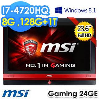 MSI 微星 Gaming 24GE 2QE 4K-006TW 23.6吋 i7-4720 獨顯GTX 960M 2G All in One 桌上型電腦-黑色
