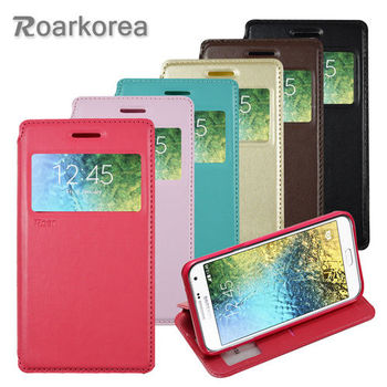 【ROARKOREA】Samsung Galaxy E7 開窗隱磁站立皮套