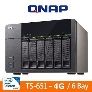 QNAP 威聯通 TS-651 4G 6Bay NAS 網路儲存伺服器