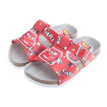 布布童鞋-Cars閃電麥坤星星紅色歐風兒童氣墊涼鞋(16~21cm)MHB116A
