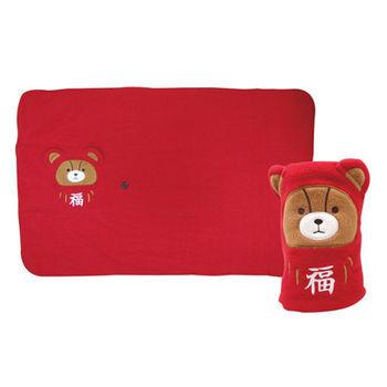 【英國熊】60*90福氣毯 DL-0019