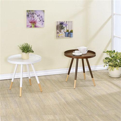 【傢俱屋】樂活茶几圓桌/2色可選/邊桌
