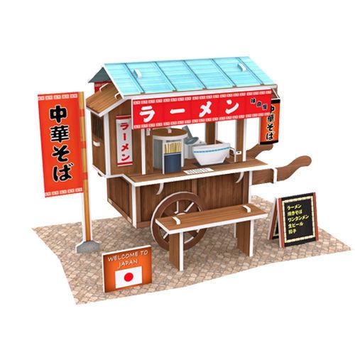 4D手作紙雕-日本-拉麵車