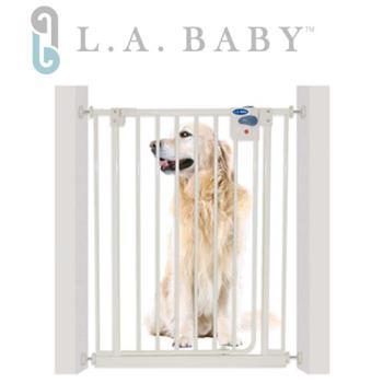 L.A. Baby 加高加寬-自動上鎖兒童門欄/寵物柵欄(贈兩支延伸片)