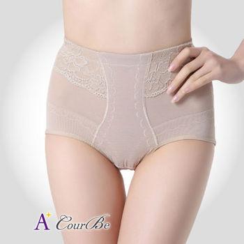 【A+CourBe】透氣網紗高腰蕾絲塑腹褲