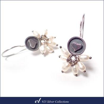 el 925銀飾 - 珍珠純銀耳環 Brandish