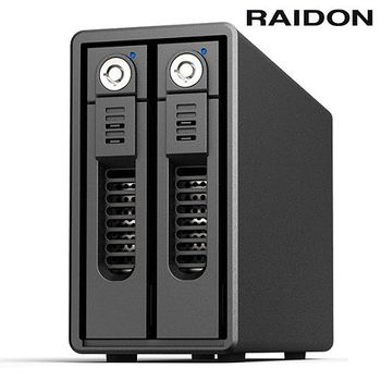 RAIDON 3.5吋USB3.0  2bay磁碟陣列-GR3660-B3