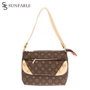 【SUNFABLE】雙S時尚撲克大容量斜背包