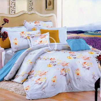 【卡莎蘭】優雅姿態 雙人全舖棉四件式兩用被床包組