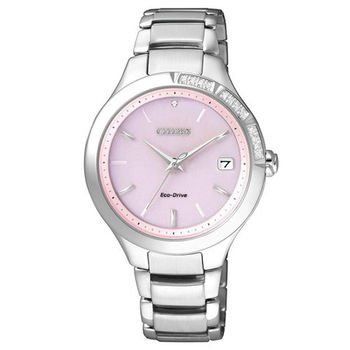 CITIZEN 晶瑩剔透女人心光動能時尚優質腕錶-紫-EO1150-59W