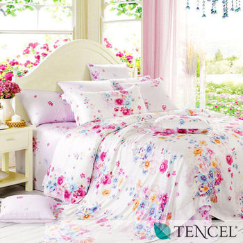【費洛倫斯】雙人100%天絲TENCEL四件式兩用被床包組