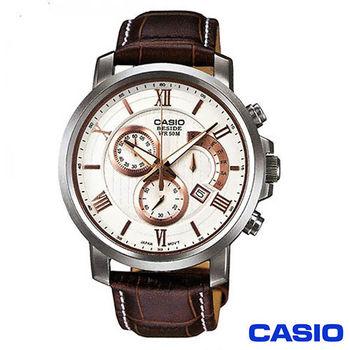 CASIO卡西歐 白面復古優雅紳士錶 BEM-507L-7A