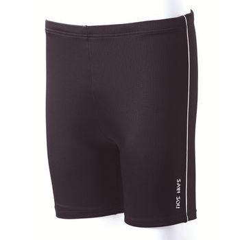 【SAIN SOU】大男彈性七分泳褲 (附泳帽) 加贈短襪x1雙 A53210